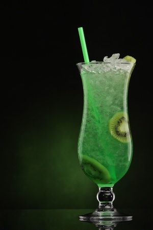 cocktail Island Bliss on a green gradient photo