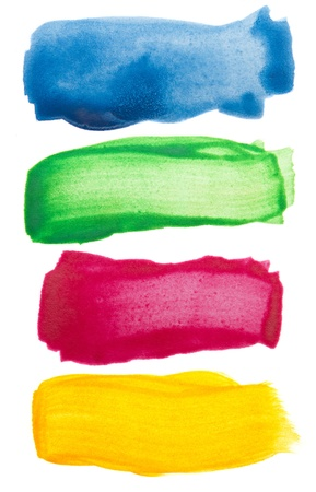 Colorful watercolor brush strokes Stock Photo - 10693560