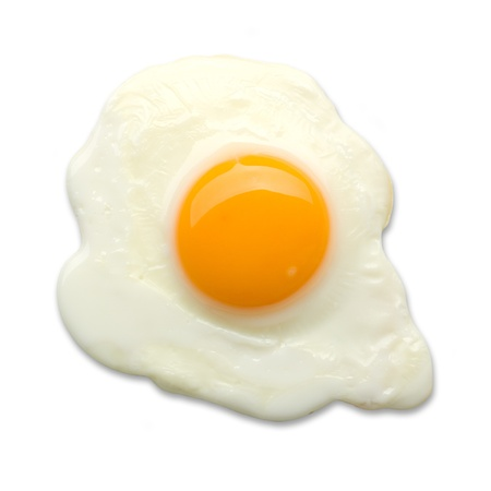 yolks: fried egg isolated Stock Photo