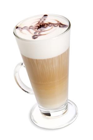 Latte Kaffee isoliert auf weiß Lizenzfreie Bilder