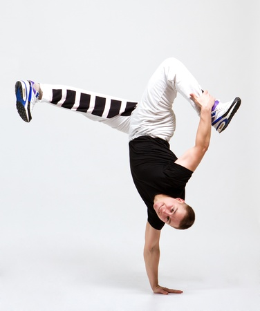 breakdance: stylish and cool breakdance style dancer posing Stock Photo