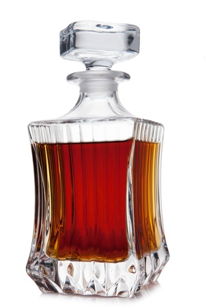 decanter: decanter of brandy