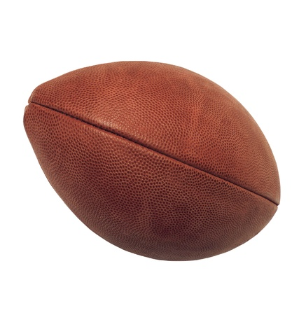 pomp: ball for american football on white background
