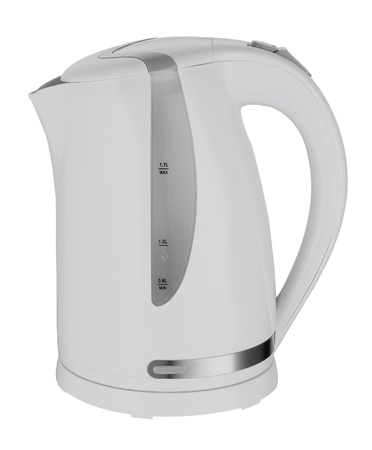 electric kettle on white background photo