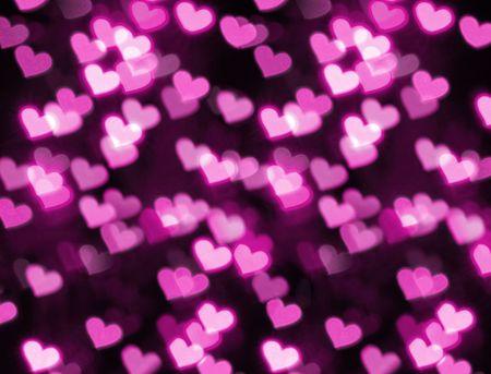 Photo of heart shape bokeh photo