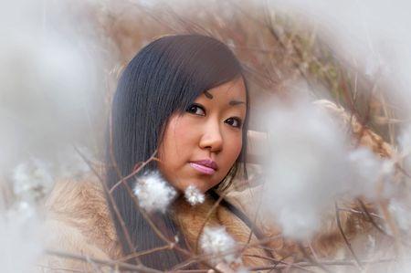 brune: Asian girl Stock Photo