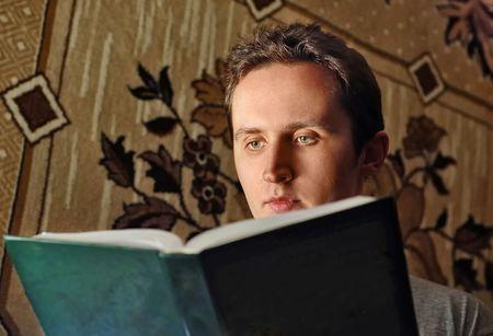 Man read interest book Stock Photo - 6290267