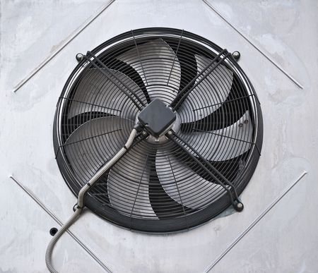 Industrial fan in the wall Stock Photo - 6787087