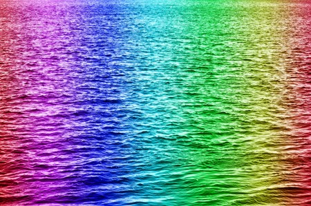 Rainbow water in the horizontal composition photo