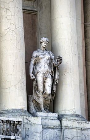 Old statue and columns photo