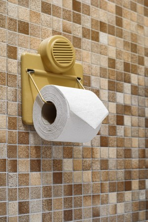 Toilet paper hang on wall Stock Photo - 6927123