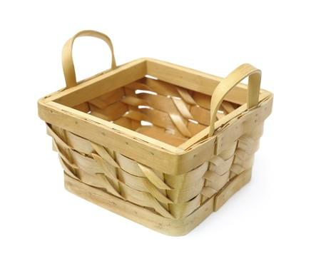 Basket isolated over white photo