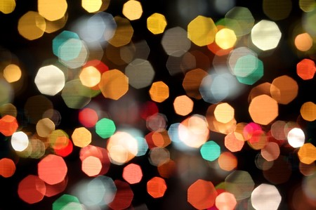 Photo of bokeh lights on black background Stock Photo - 6927221