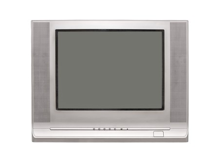 TV isolated over white photo