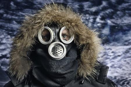 Portrait of man in respirator Stock Photo - 6943301
