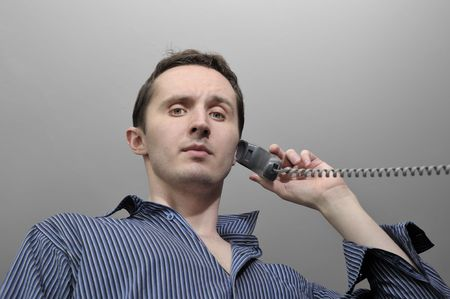 Young man talking by phone Stock Photo - 7066933