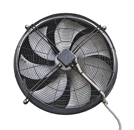 Industrial fan over white photo