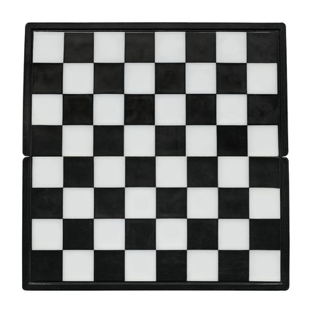 Chess board without chess isolated over white Stock Photo - 7127064
