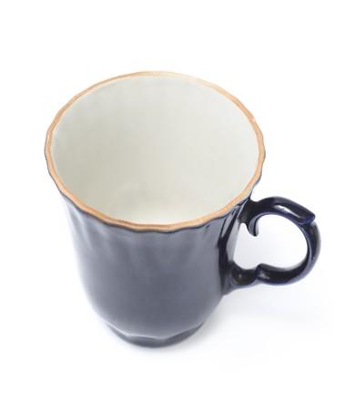 Blue mug isolated over white photo