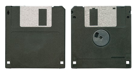 mass storage: Diskette isolated on white background