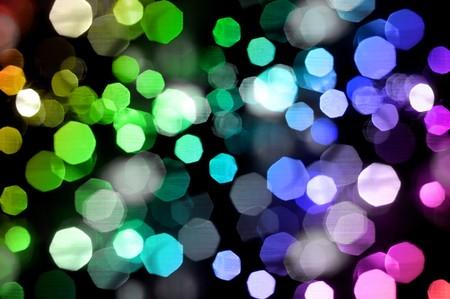 Photo of bokeh lights on black background photo