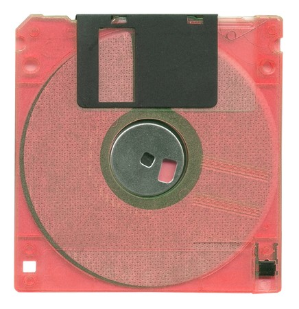 Diskette isolated on white background photo
