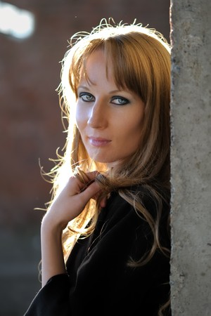 females only: Portrait of posing girl