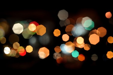 bokeh lights on black background Stock Photo - 7513731