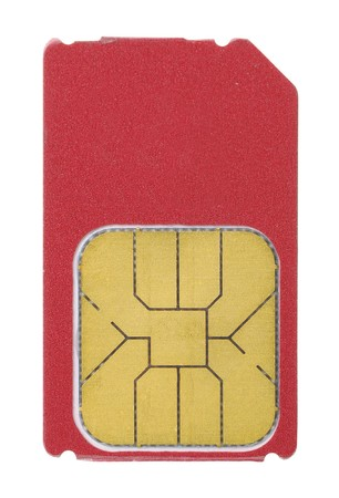 sim: Sim card isolated on white background