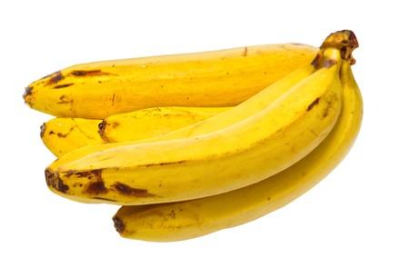 Old bananas isolated on white background photo