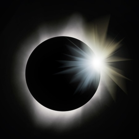 Sun eclipse with flare Stock Photo - 7686950