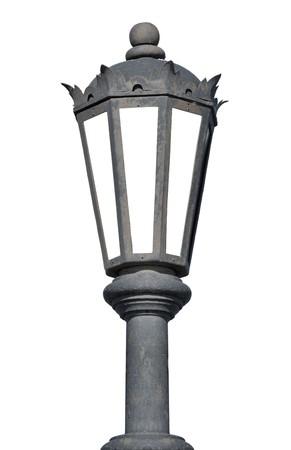 Old lantern isolated on white background photo