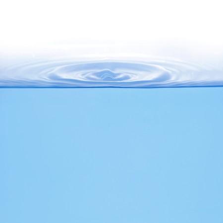 Ringen op water geïsoleerd op witte achtergrond