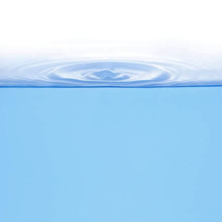 levels: Rings on water isolated over white background