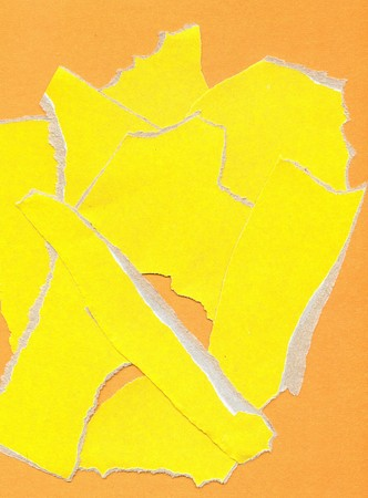 fragmentary: Yellow fragmentary paper as background