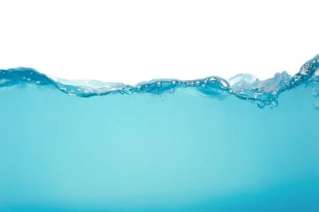 Water splash isolated on white background photo