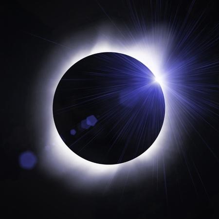 Sun eclipse with sun flare Stock Photo - 8412021