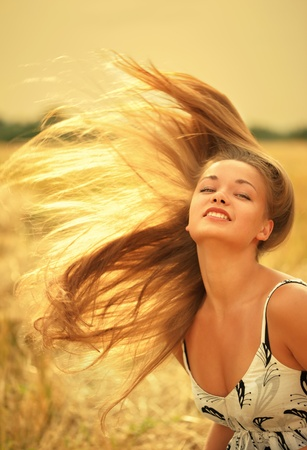 Photo of beautiful woman with magnificent hair Stock Photo - 8433733