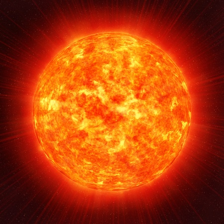 Sun planet in the space Stock Photo - 8727487