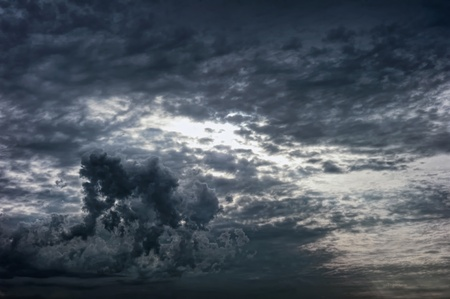 Dramatic clouds in the sky photo