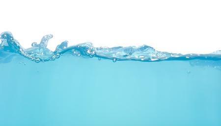 Water golven geïsoleerd op witte achtergrond Stockfoto