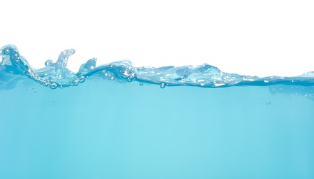 Water waves isolated on white background Stock Photo