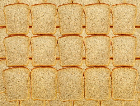 Slices of dark bread as background photo