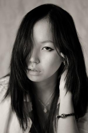 Portrait of asian girl close up Stock Photo - 9617020