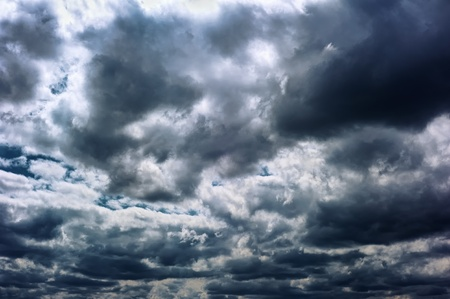 The big powerful storm clouds Stock Photo - 9653404