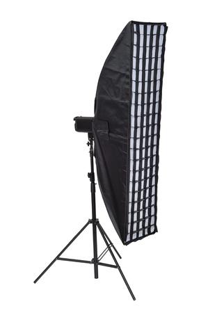 stripbox: Studio lighting isolated on the white background