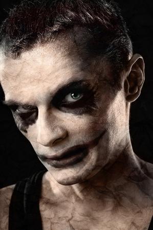 Portrait of spooky ugly man photo