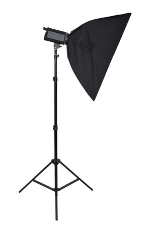 Studio lighting isolated on the white background photo