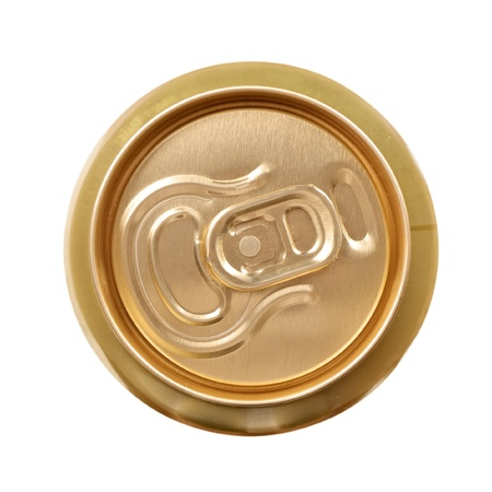 Aluminum drink can isolated over white background photo