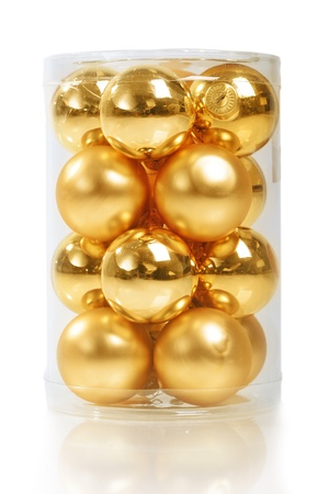 Set of christmas balls isolated on white photo